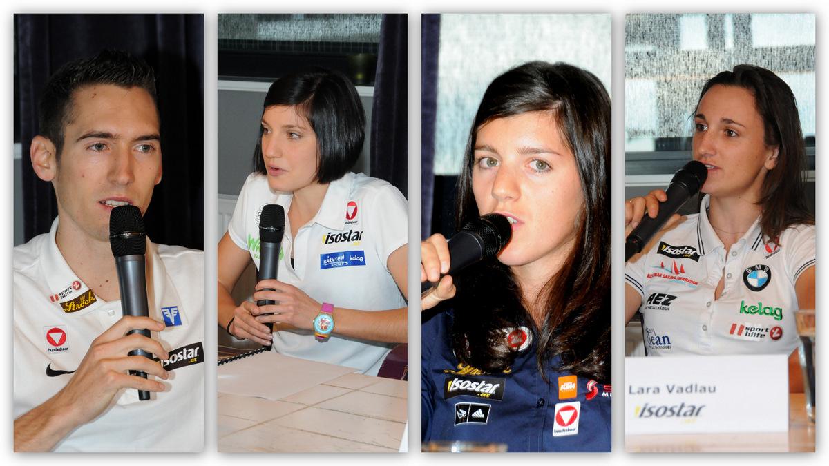 Andreas Vojta/Leichtathletik, Lisa Perterer/Triathlon, Magdalena Lobnig/Rudern, Lara Vadlau/Segeln