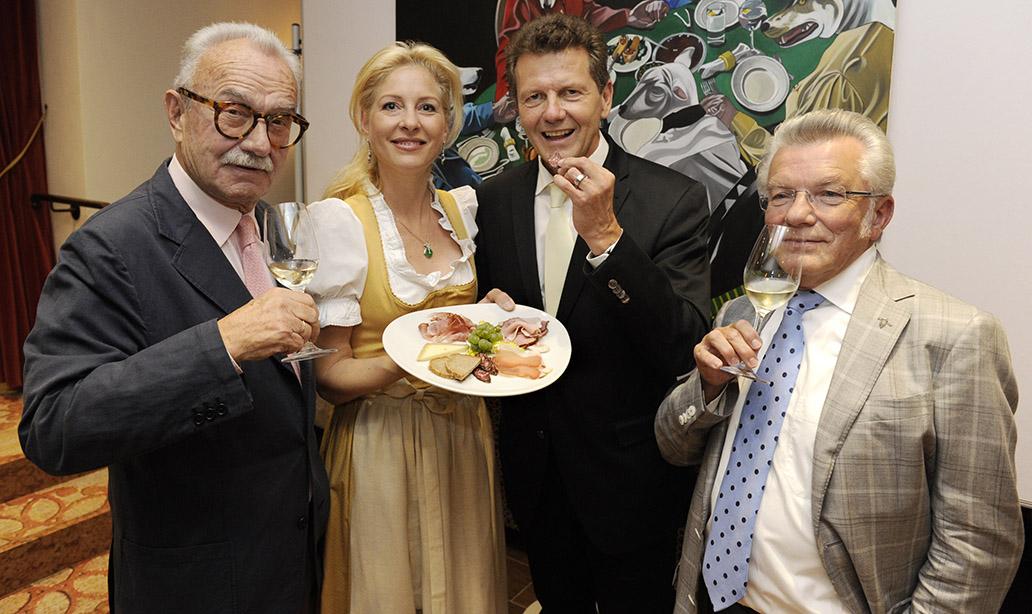 1. transformale Gourmet Festival Hotel RonacherMichael Reinartz, Simone Ronacher, Dr. Wolfgang Waldner und Dir. Wilhelm Weiss©fritzpress