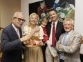 1. transformale Gourmet Festival Hotel RonacherMichael Reinartz, Simone und Markus Ronacher mit Tochter Marie, Dir. Wilhelm Weiss©fritzpress