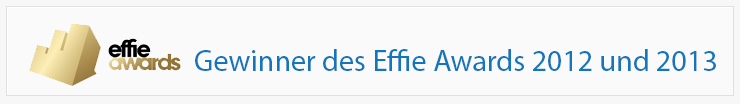 Gewinner des Effie Awards 2012/2013!